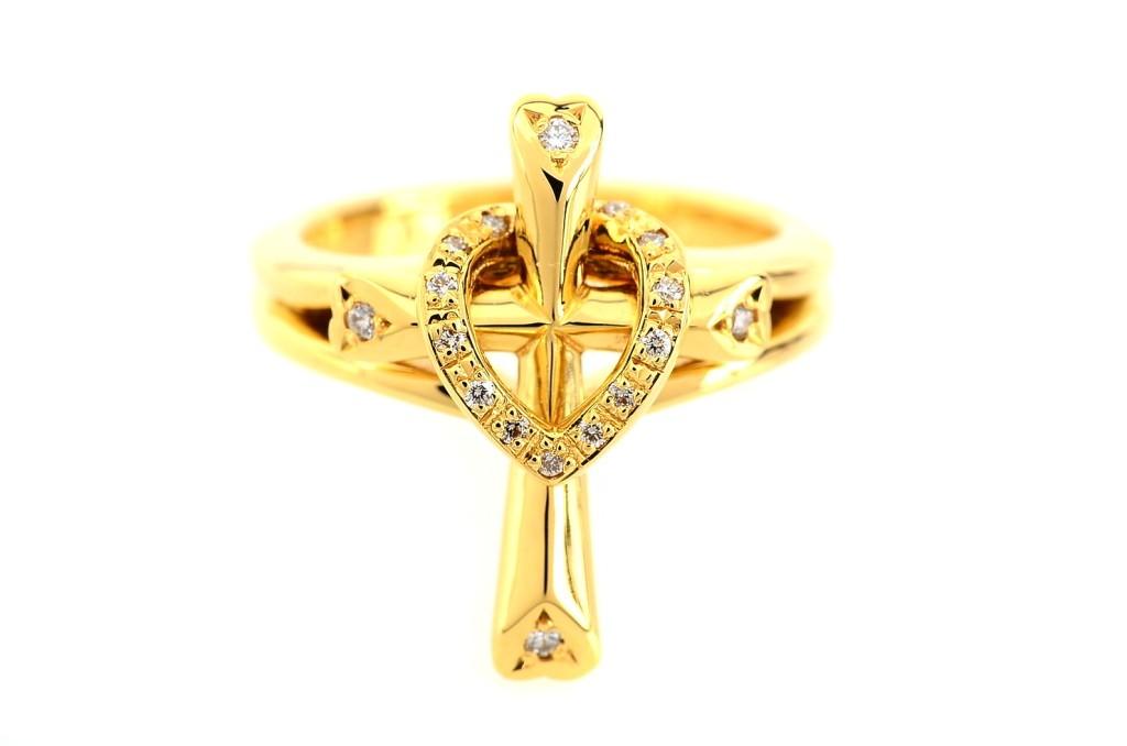 Cross Heart Ring